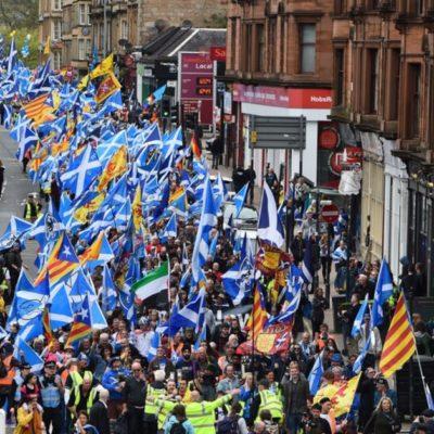 Manifestació per la independència a Escòcia