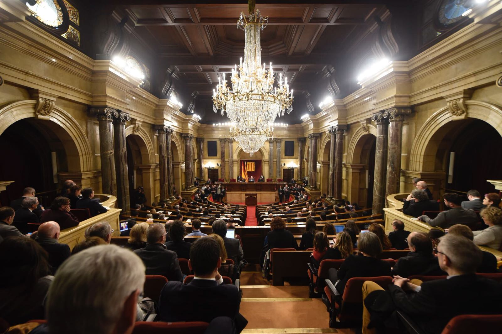Una imatge del Parlament