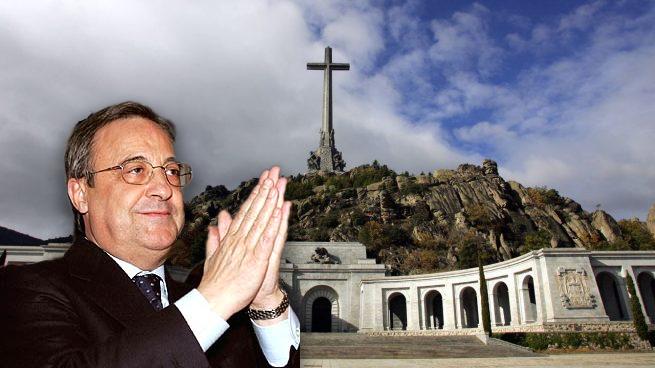 Muntatge amb Florentino Pérez i el Vallde de los Caídos de fons