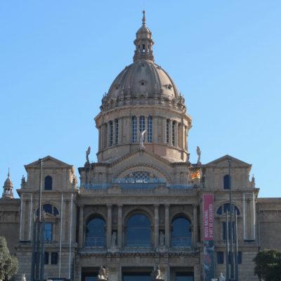 Fotografia exterior del Museu Nacional d'Art de Catalunya (MNAC) aquest dimecres 24 de gener de 2018. / ACN