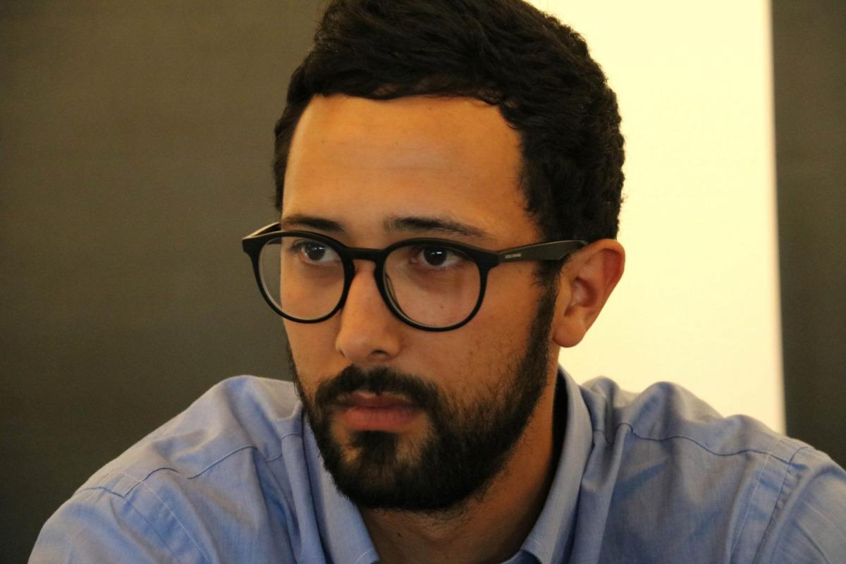 Pla tancat de Josep Miquel Arenas, Valtònyc, durant una roda de premsa a Brussel·les el 5 de juliol del 2018 / ACN