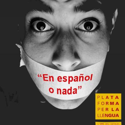 Una imatge d'arxiu d'una campanya de la Plataforma per la Llengua
