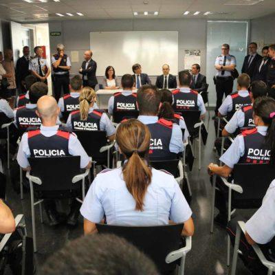 Agents dels Mossos d'Esquadra en servei/ Sílvia Jardí