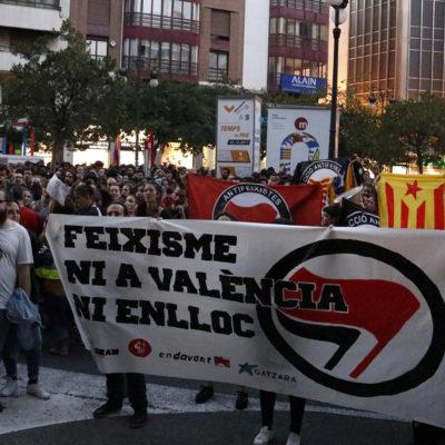 Concentració a València contra la violència feixista el passat 9 d'octubre/ José Soler
