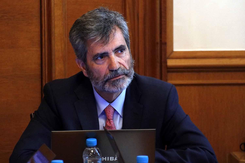 El president del Tribunal Suprem i del Consell General del Poder Judicial, Carlos Lesmes, en una imatge d'arxiu