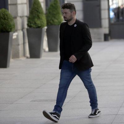 Gabriel Rufián arriba al Congrés espanyol/ Javier Barbancho