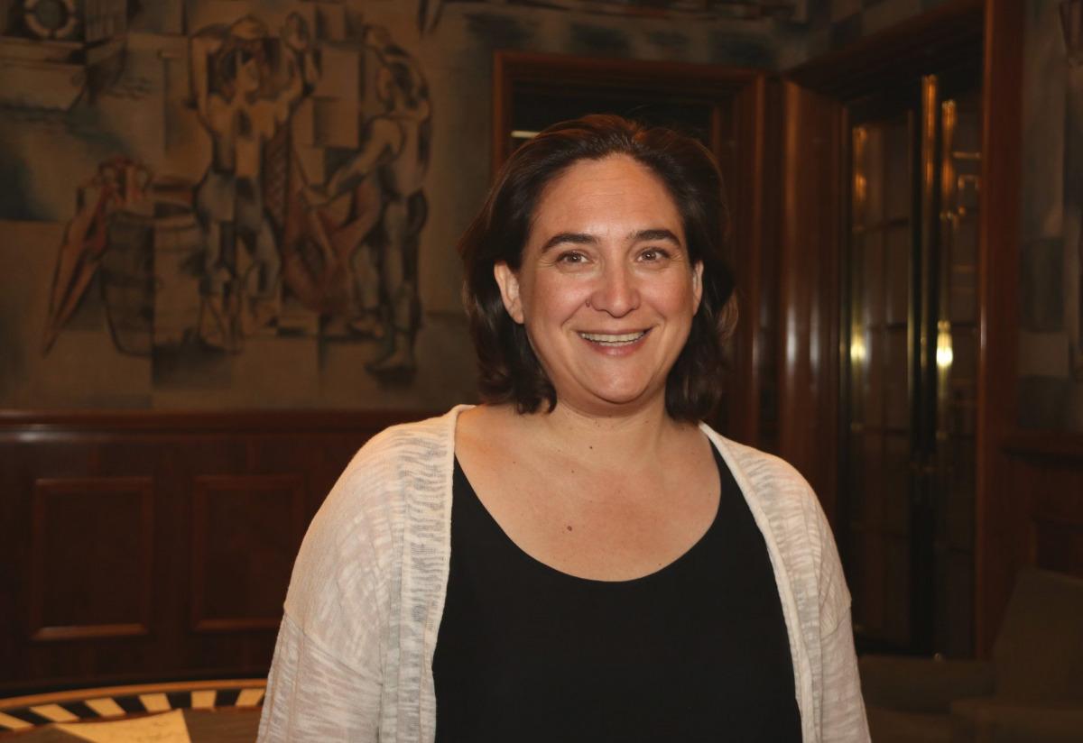 Primer pla de l'alcaldessa Ada Colau.