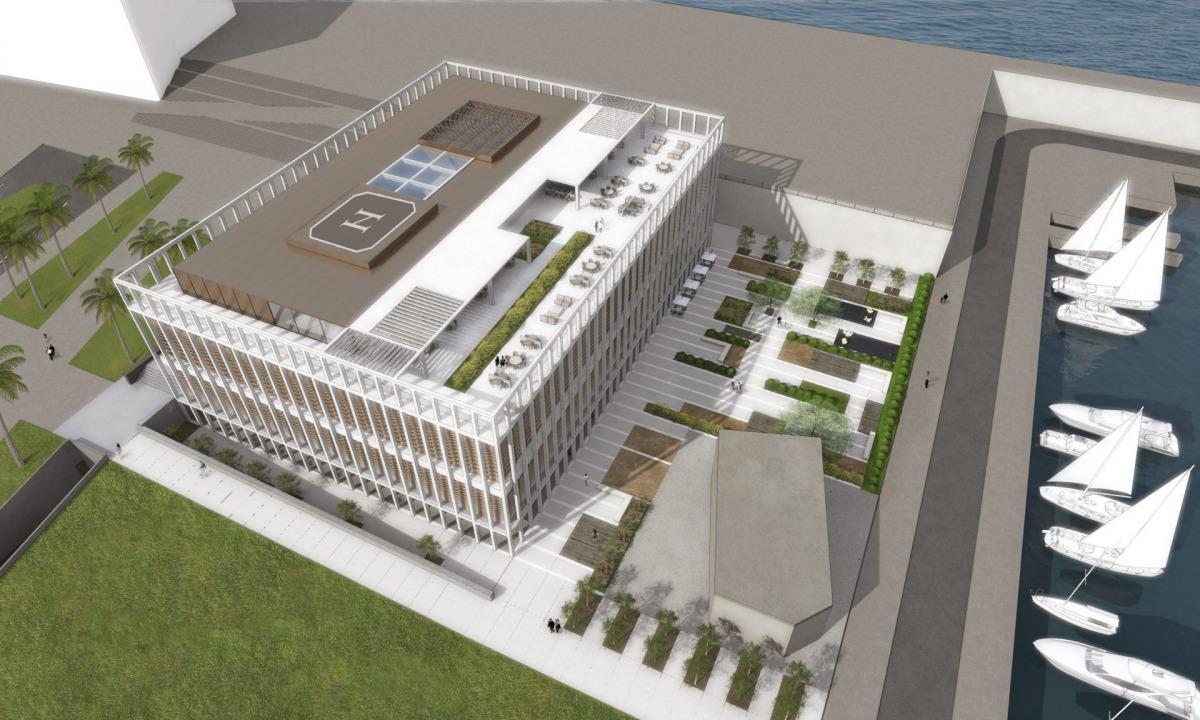 Visió aèria del projecte d'edifici de l'Hermitage Barcelona - 2016 / ACN