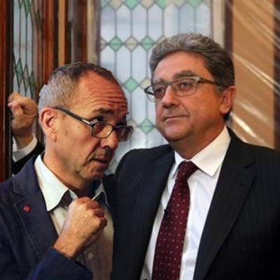Fotomuntatge que simbolitza la proximitat ideològica entre Joan Coscubiela i Enric Millo