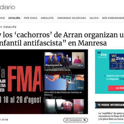 Una captura de pantalla d'OkdiarioUna captura de pantalla d'Okdiario