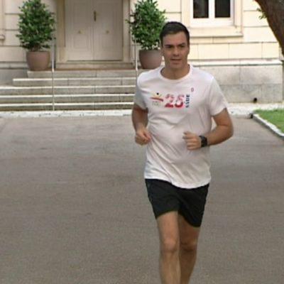 Pedro Sánchez fent running
