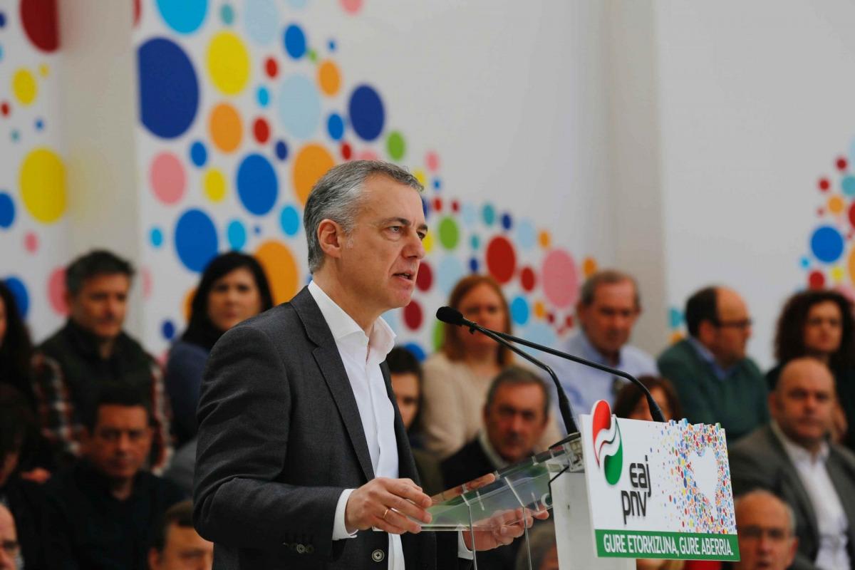 El lehendakari, Íñigo Urkullu/ PNB