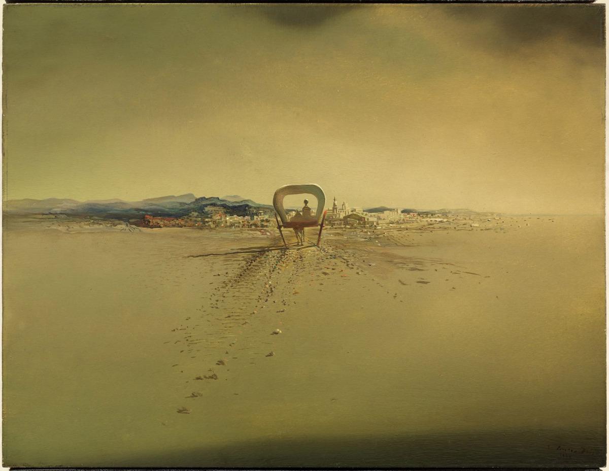 Carretó fantasma (1933) © Salvador Dalí, Fundació Gala-Salvador Dalí, Figueres, VEGAP, 2018