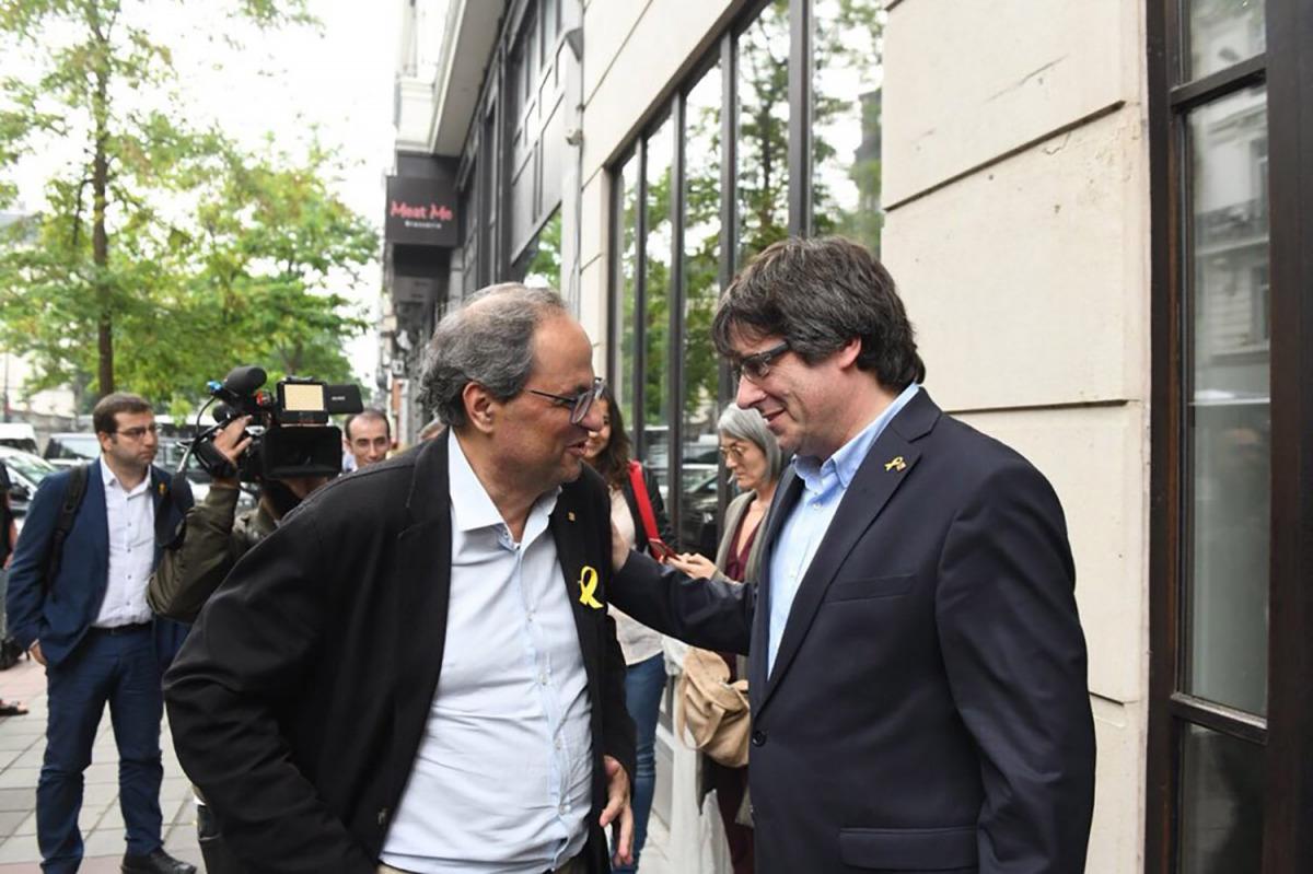 Torra i Puigdemont, a Brussel·les