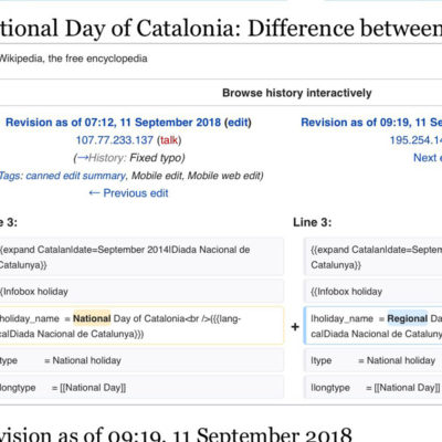 Una captura de pantalla de la Wikipedia