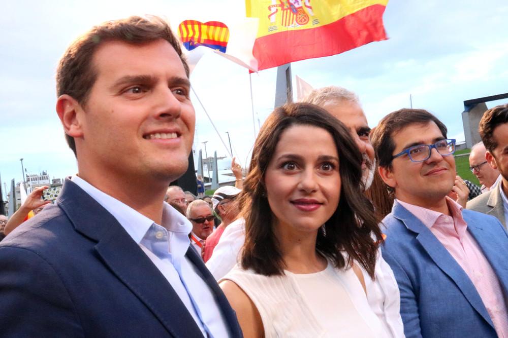 Arrimadas, amb Rivera, en una imatge d'arxiu