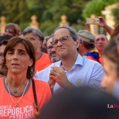 Quim Torra, a la manifestació de la Diada/ Marc Puig