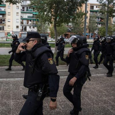 Una imatge d'agents de la policia espanyola/ Carles Palacio