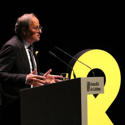 El president de la Generalitat, Quim torra, a la conferència 'El nostre moment'/ Núria Julià