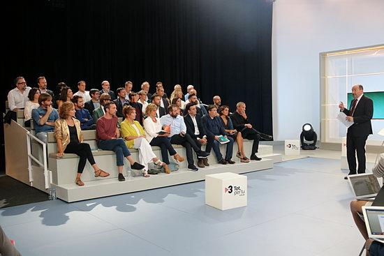Gran pla general de la presentació de la temporada 2018-2019 de Tv3