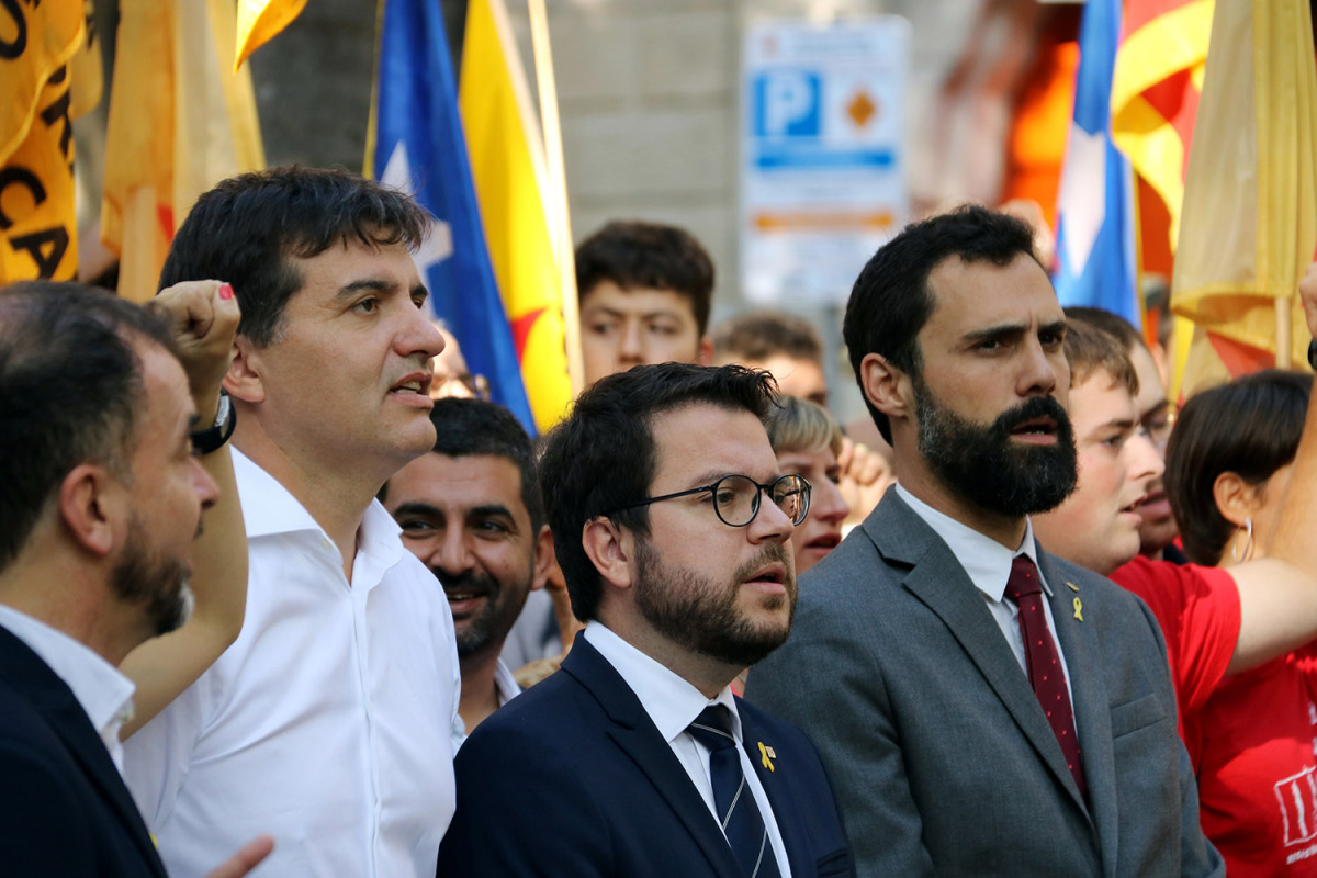 Sergi Sabrià, Pere Aragonès i Roger Torrent/ Jordi Bataller