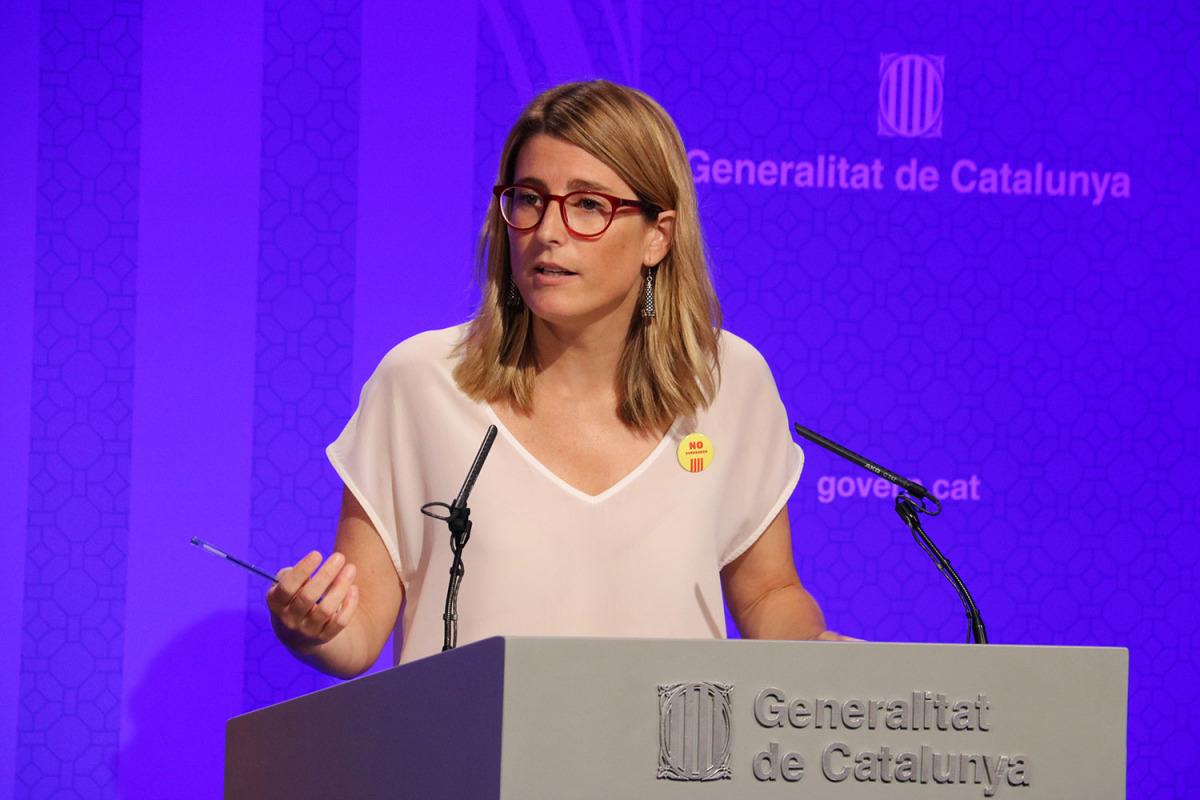 La consellera de la Presidència i portaveu del Govern, Elsa Artadi/ Jordi Bataller
