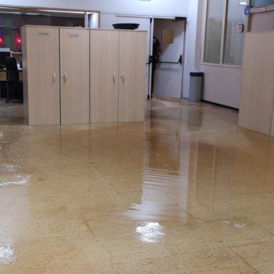 Instal·lacions de la GUB inundades