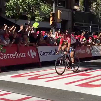 Una imatge d'arxiu de 'La Vuelta'/ Twitter @Lavuelta