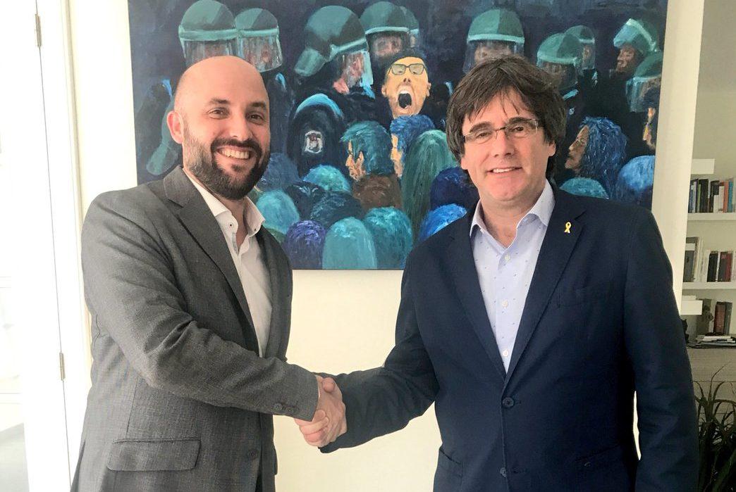 Jordi Graupera visita Carles Puigdemont a Waterloo