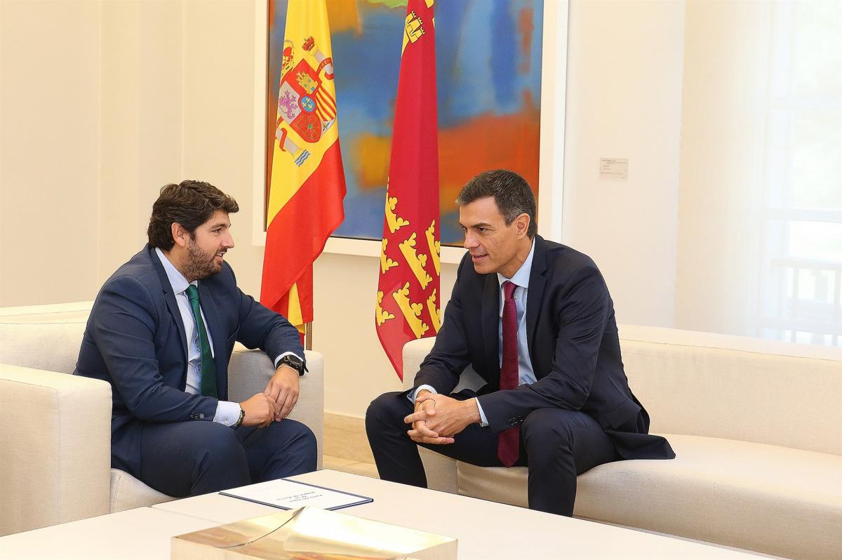 Fernando López Miras i Pedro Sánchez