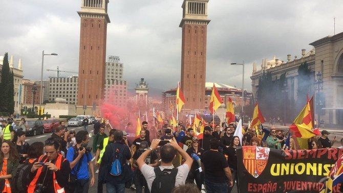 Imatge de la concentració feixista / TV3