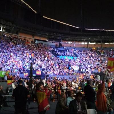VOX omple en un acte a Madrid/ Twitter @PabloMM