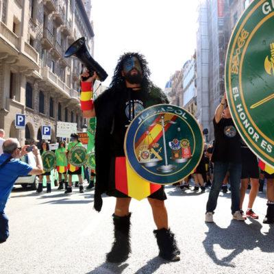 Imatge d'una manifestació de Jusapol / Marc Puig