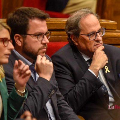Aragonès i Torra al Parlament