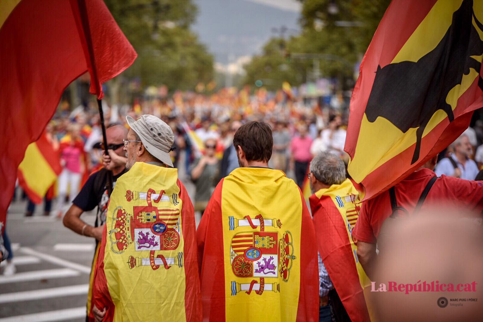 Manifestació espanyolista del 12-O al centre de Barcelona / Marc Puig