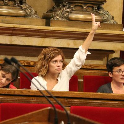 Elisenda Alamany, en una imatge d'arxiu al Parlament