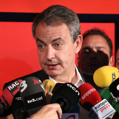 L'expresident del govern espanyol, José Luís Rodríguez Zapatero