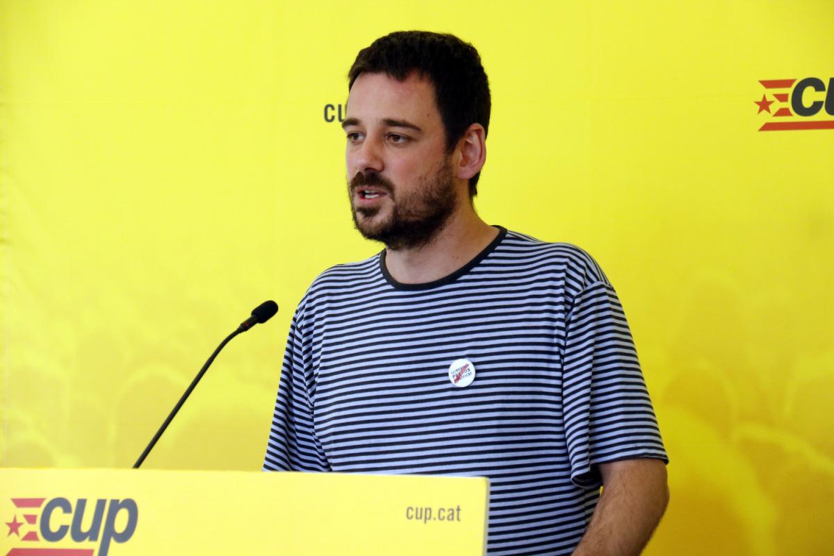 El portaveu del Secretariat Nacional de la CUP, Lluc Salellas
