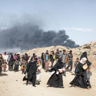 Imatge d'uns refugiats sortint de Síria / ACN