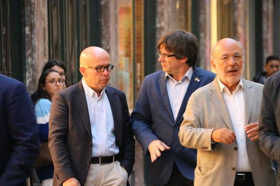 Carles Puigdemont i l'advocat Gonzalo Boye