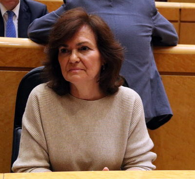La vicepresdenta del govern espanyol, Carmen Calvo