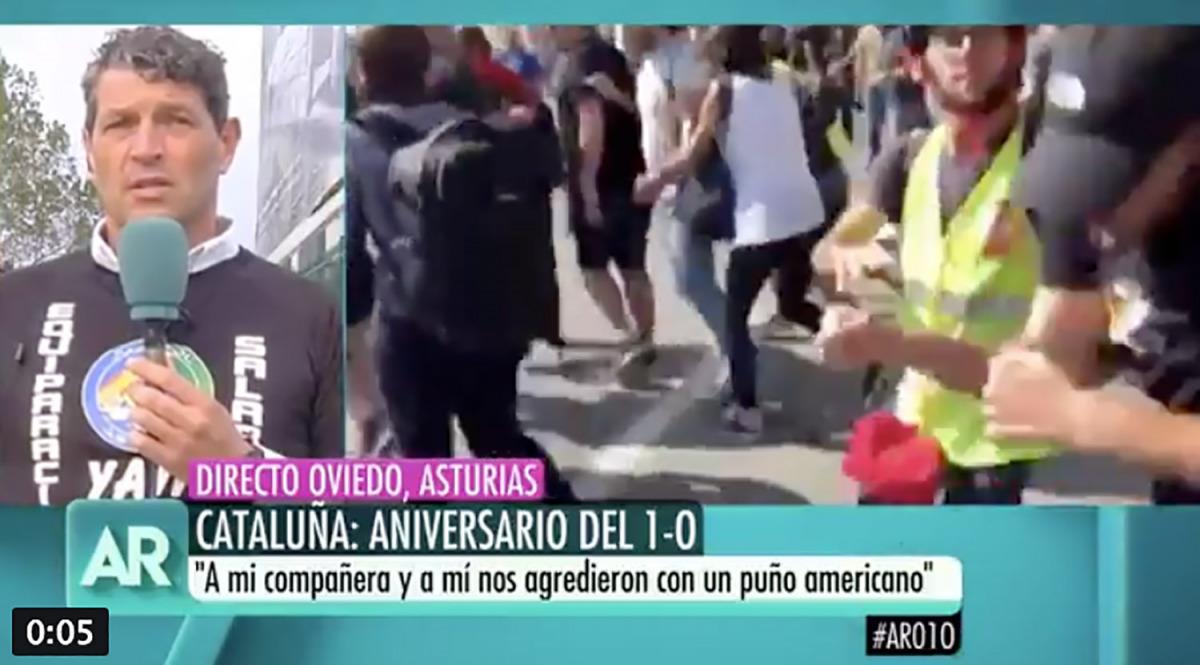 Una captura de pantalla del programa d'Ana Rosa Quintana