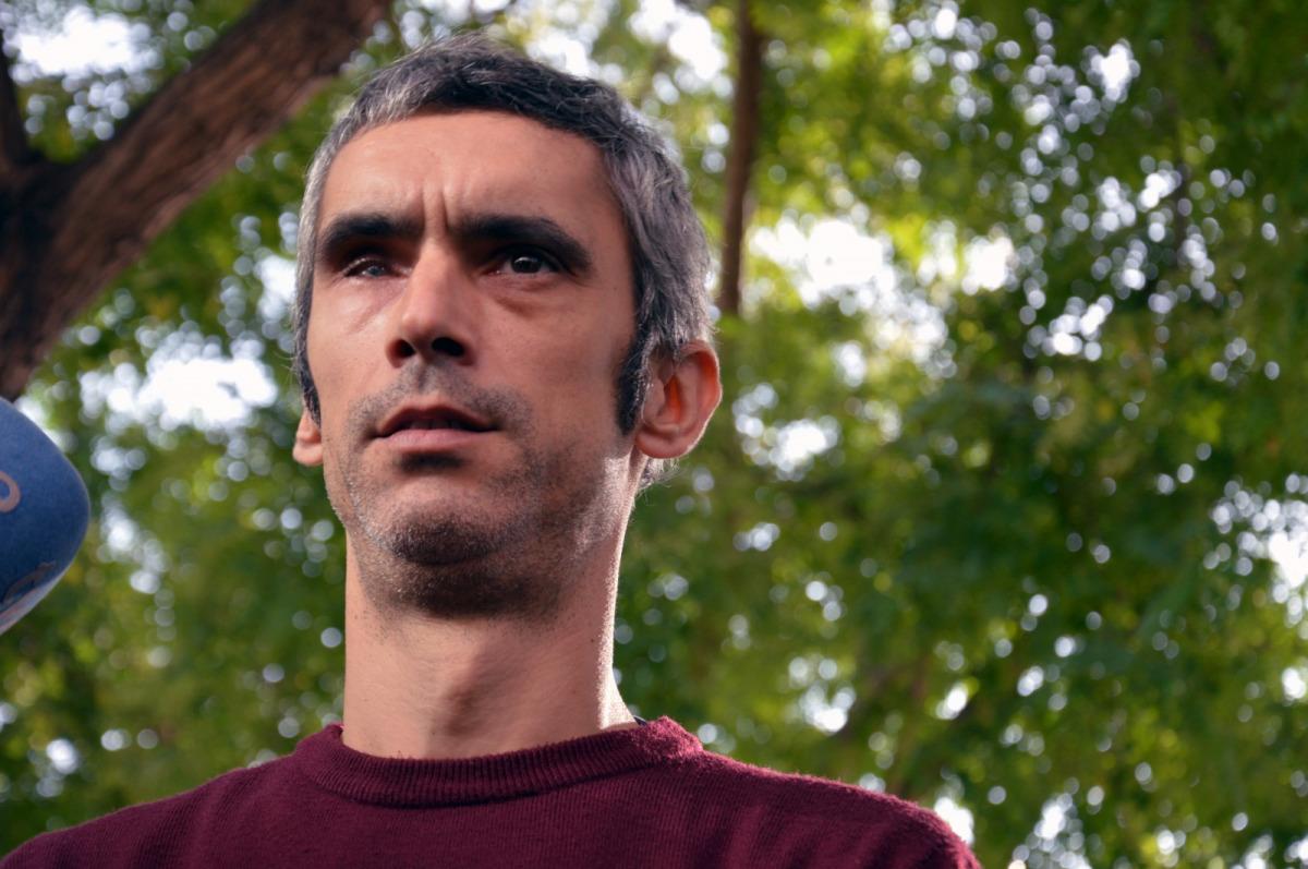 Roger Español, víctima d'una pilota de goma l'1-O/ Marina Bou