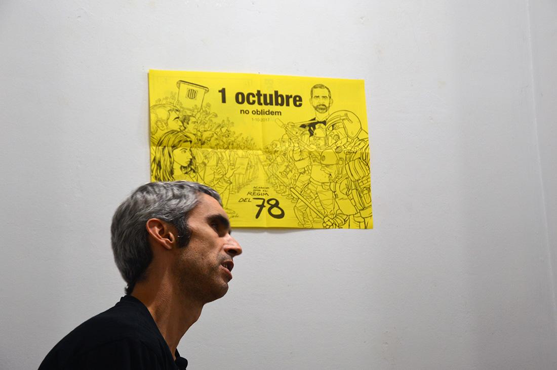 Roger Español, víctima de la brutalitat policial de l'1-O