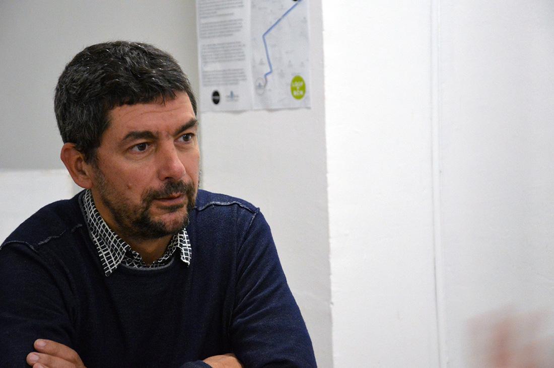 Joan Canadell, a la redacció de 'La República'