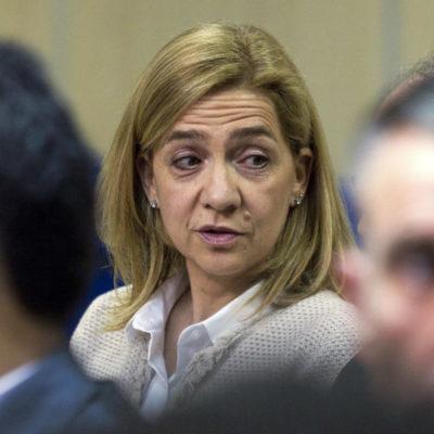 La infanta Cristina, durant la sessió del 'cas Nóos' que se celebra a Palma