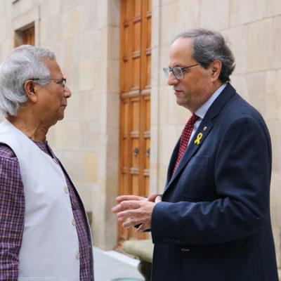 El president Quim Torra i el Premi Nobel Muhammad Yunus al Palau de la Generalitat