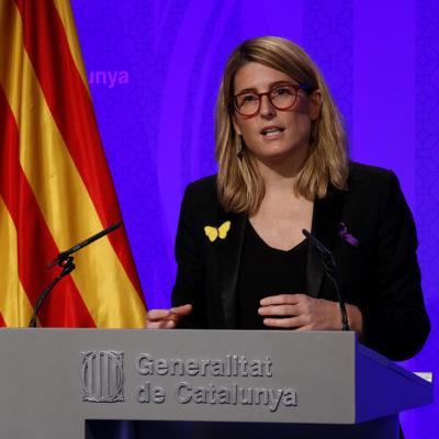 La portaveu del Govern i consellera de la Presidència, Elsa Artadi, en roda de premsa
