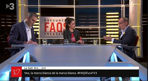Javier Ortega, de Vox, a TV3