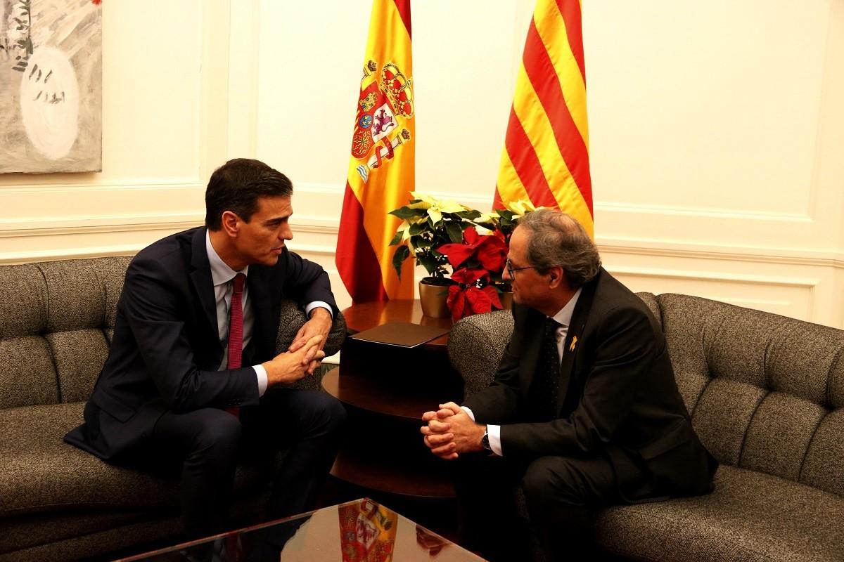 Torra i Sánchez, reunits a Barcelona